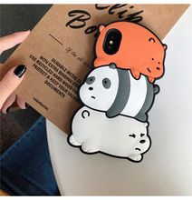 Cute 3d Anime Cartoon Soft Silicone Bear Girl Phone Cover Case For Iphone X Xs Max Xr 10 8 7 6 6s Plus Luxury Matte Coque Fundas