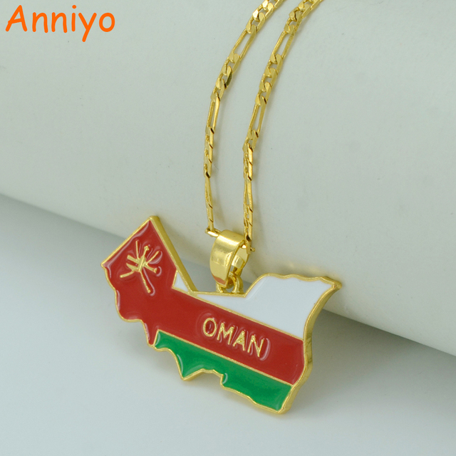 Anniyo oman map necklaces for womenmen gold color omans pendant anniyo oman map necklaces for womenmen gold color omans pendant jewelry country map aloadofball Images