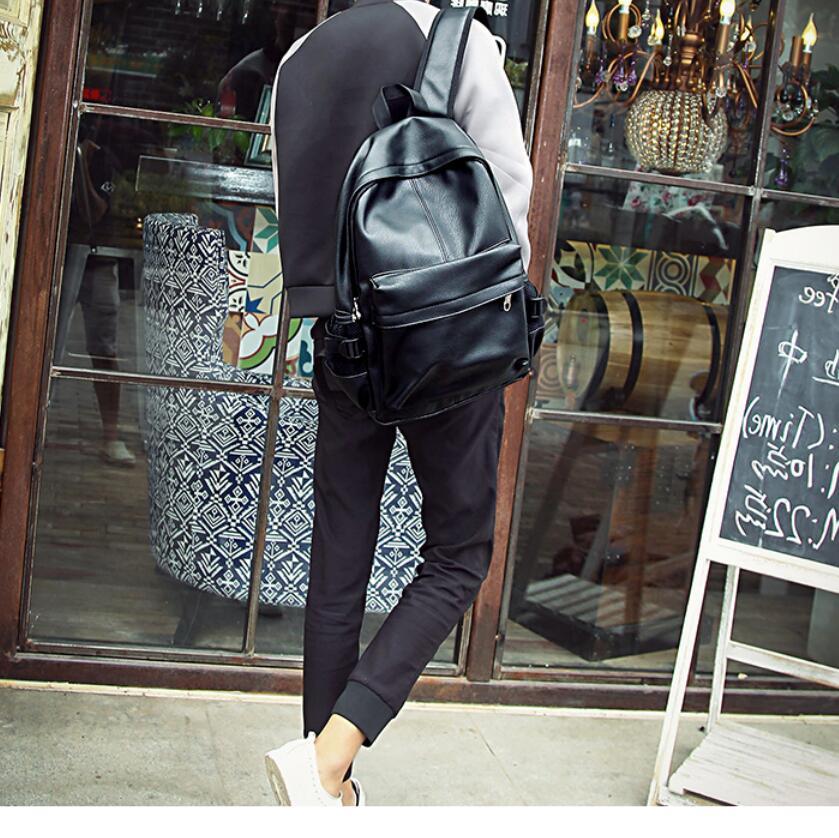 Borse Sacchetti Adolescenti Backpacks Feminina In men Mochila Scuola Bookbag Di Brown Collegio Pelle Da Laptop Uomini Black Anawishare Men Zaini Nera Per Viaggio SwOgA