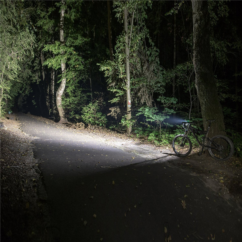 USB Rechargeable Bicycle Lamp Front Handlebar Torch Light L2 LED Headlight with Safety Taillight for Night Cycling Camping in Bicycle Light from Sports Entertainment