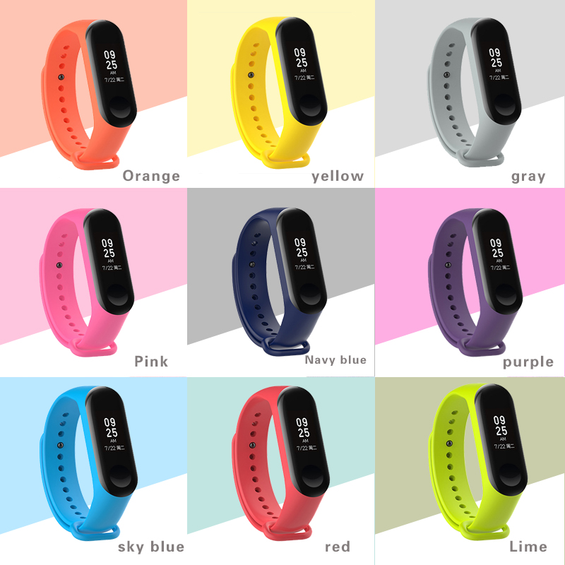 все цены на xiaomi band 3 Silicone wrist strap For Xiaomi Mi Band 3 Bracelet Strap Miband 3 Colorful Strap Wristband Smart Band mi band3 онлайн