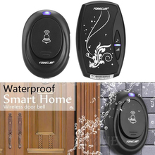 Waterproof Wireless Doorbell with 36 Chimes Single Receiver EU/US Plug Plug-in T