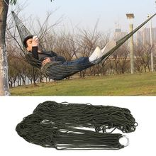 Portable Garden Outdoor Hammock Camping Travel Furniture Mesh Hammock Swing Sleeping Bed Nylon Hamaca(China)