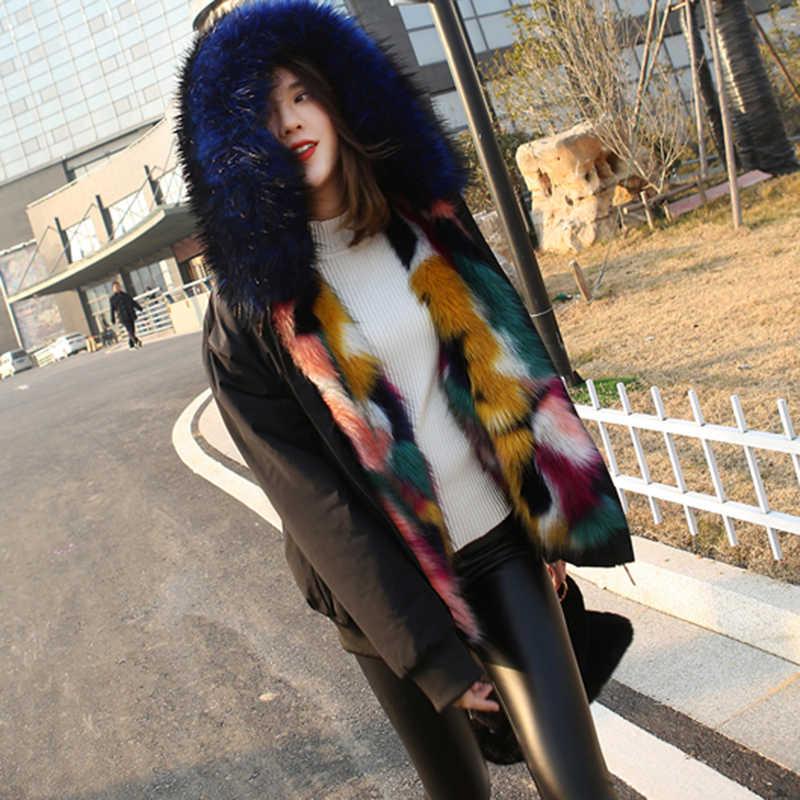 חם ברדס פרווה מעיל 2019 חורף אופנה פרווה & פו פרווה גדול גודל נקבה באיכות גבוהה נוח קצר נשים פרווה מעיל NUW348