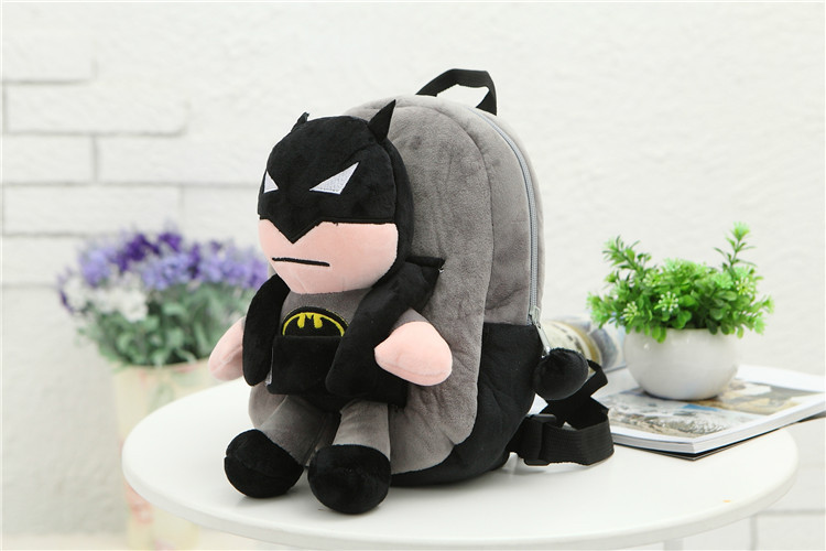 3D-The-Avengers-Plush-Backpacks-Toys-for-kids-2016-New-Ironman-Superman-Spiderman-Batman-doll-plush-schoolbag-mochila-5