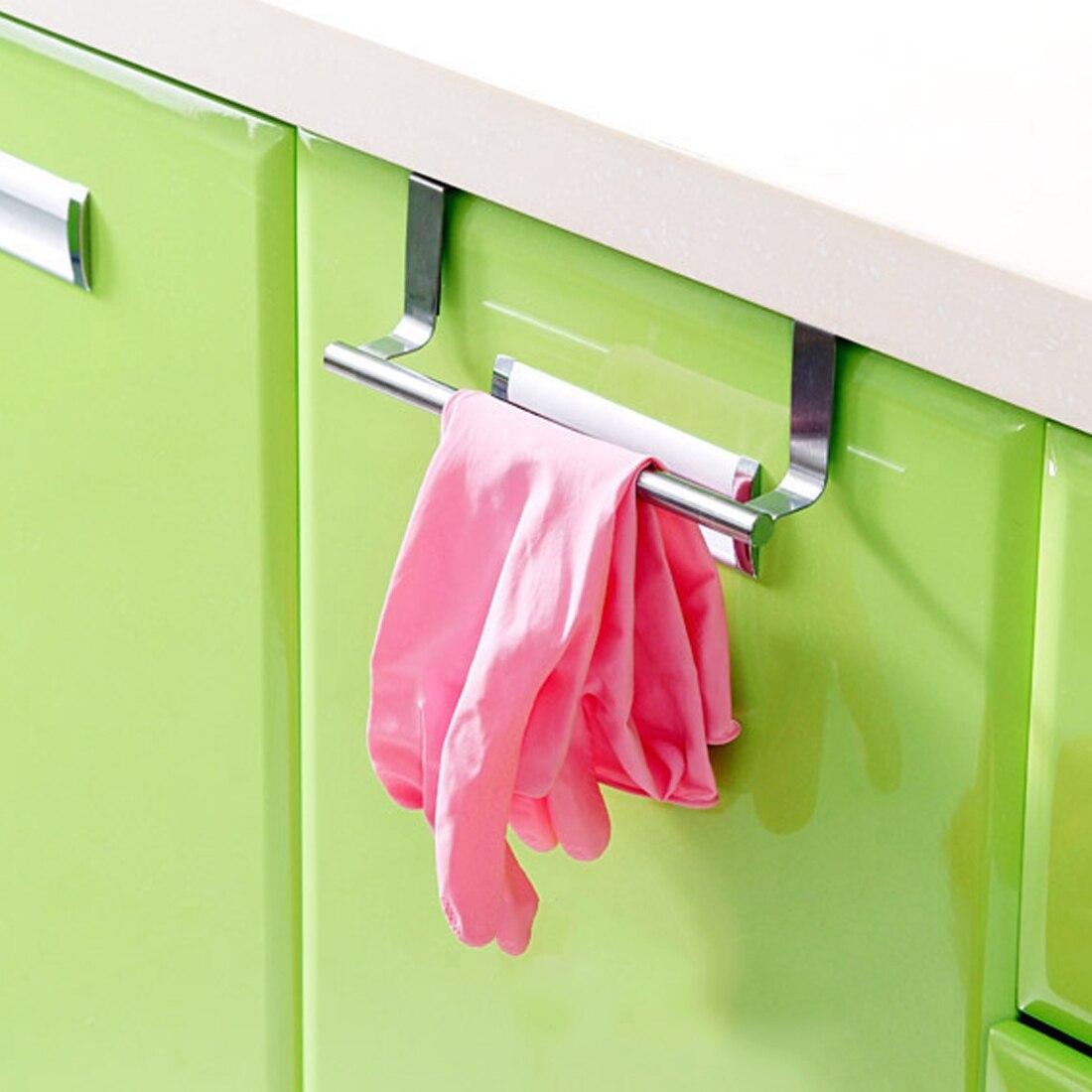 Над дверью Полотенца барная стойка висит держатель Ванная комната Кухня шкаф стеллаж Организация дома