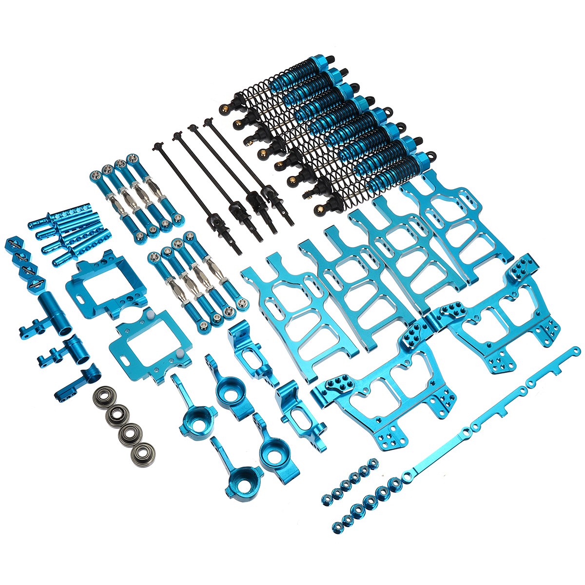 Upgrade Parts Package Aluminum Alloy Blue For HSP RC 1:10 94111 94108 Crawler Car Monster Truck Blue Parts & Accs цены онлайн