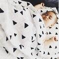 Новорожденный Ребенок Одеяло 100% Хлопок Получения Муслин Пеленание Одеяло Белого Одеяла Постельное Белье Двойной Слой Марли Полотенце Держать Обруч