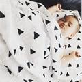 Cobertor Do Bebê recém-nascido 100% Algodão Recebendo Cobertor Musselina Swaddle Cobertores Da Cama Dupla Camada de Gaze Toalha de Banho Branca Segure Envoltório