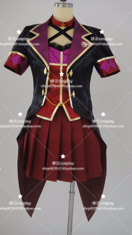 Anime! The IDOLM@STER Ichinose Shiki LiPPS Stage Tulip Uniform Cosplay Costume For Unisex coat+clothing+skirt+gloves Free Ship