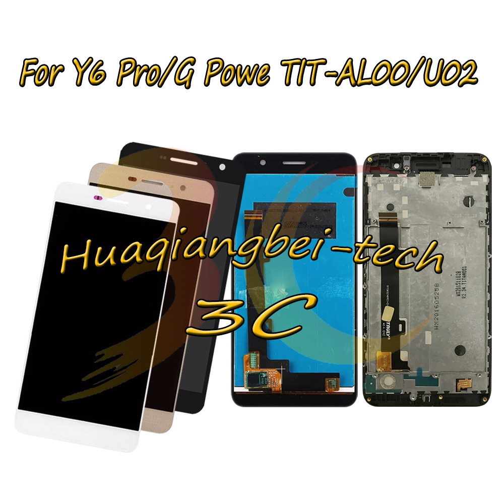 5.0'' For <font><b>Huawei</b></font> <font><b>Y6</b></font> <font><b>Pro</b></font> Y6Pro / G Powe <font><b>TIT</b></font>-<font><b>AL00</b></font> <font><b>TIT</b></font>-U02 Full <font><b>LCD</b></font> DIsplay +Touch Screen Digitizer Assembly With Frame 100% Tested image