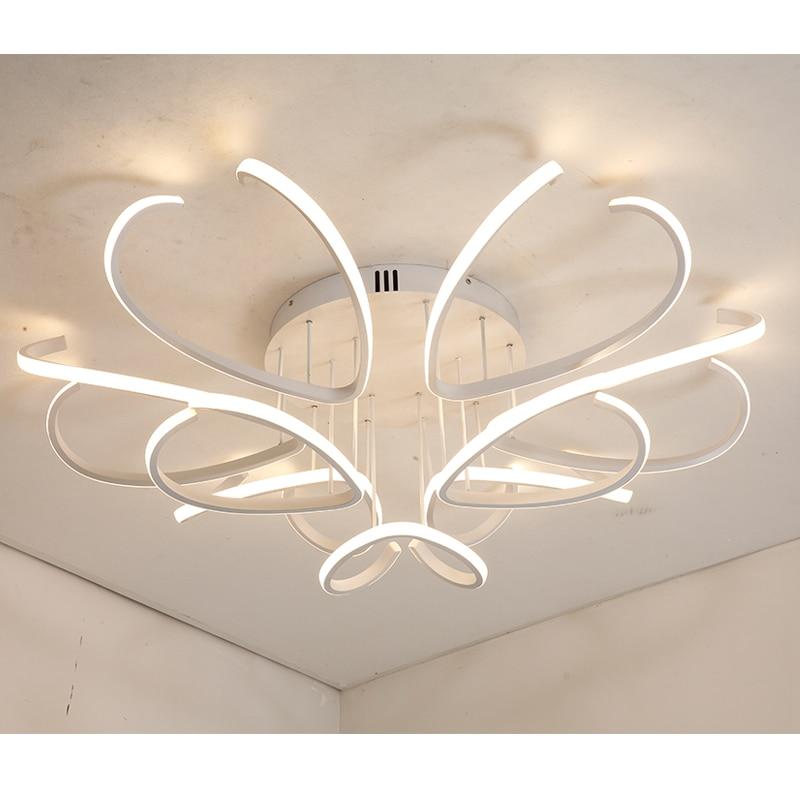 Alluminio Moderna led lampadario a bracci del soffitto per soggiorno camera da letto lamparas de techo Acrilico lampadario a soffitto infissi lampada