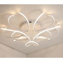 Aluminum Modern led ceiling chandelier lights for living room bedroom lamparas de techo Acrylic ceiling chandelier lamp fixtures цена в Москве и Питере