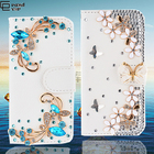 Coque for iphone 7 7 plus Flip Wallet Bookcase Luxury Rhinestone Diamond Crystal Strass Bling Fundas For Huawei Cover P9 P9 Lite