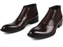 Мода черный/коричневый загар мужские платья обувь оксфорды Острым Носом ботильоны из натуральной кожи мужские деловые туфли офисные обувь