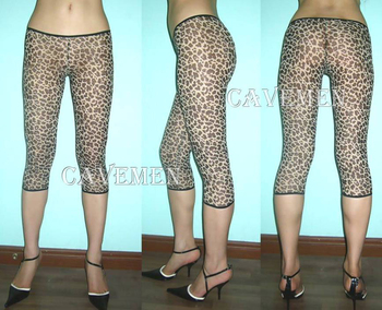 Leopard and pants* 2195 *Ladies sexy G-string T-backBikini Boxer Triangle Pajamas Suit Free Shipping