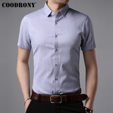 COODRONY Cotton Short Sleeve Shirt Men Brand Clothes 2019 Summer New Business Casual Shirts Social Dress Camisa Masculina S96043
