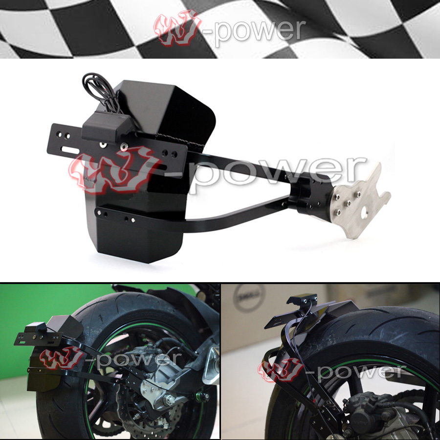 For KAWASAKI Z800 2013 2014 2015 2016 Mudguard Rear Fender Bracket License Plate Holder LED Light Motorcycle Z 800 Accessories for kawasaki z800 2013 2014 2015 motorcycle rear axle spindle chain adjuster blocks cnc aluminum z 800