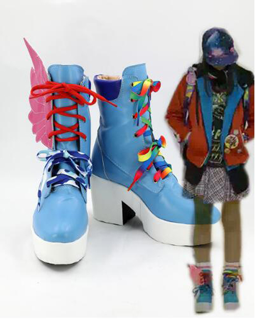 Masked Rider Kamen Rider Saiba Nico Cosplay Boots Shoes Party Cosplay Show Boots Custom Made for Adult Women Shoes
