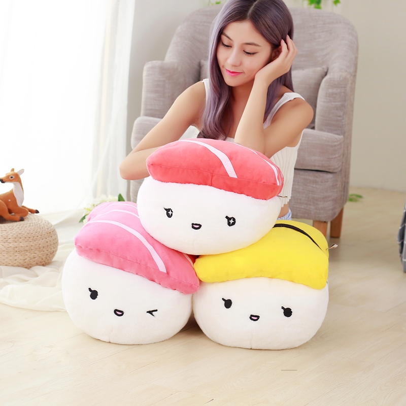 super cute plush toys simulation Japanese sushi pillow as a gift to the children and friends/40 75cm super cute plush toy dog lipstick dog pillow doll lying prone as gifts to friends and children with down cotton