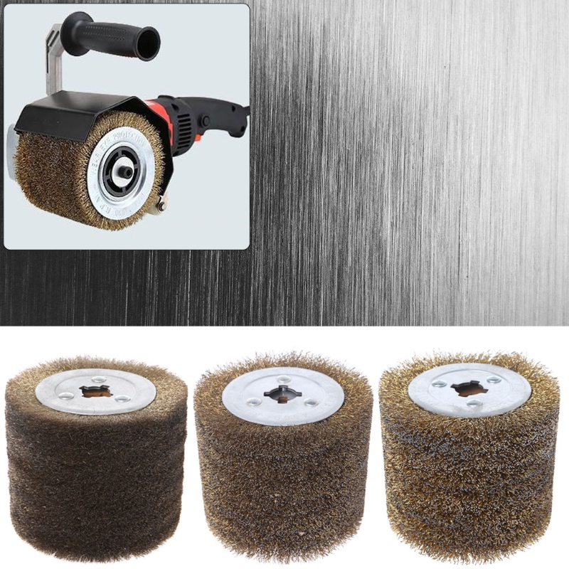 Deburring Abrasive Stainless Steel Wire Round Brush Polishing Grind Buffer Wheel-M18