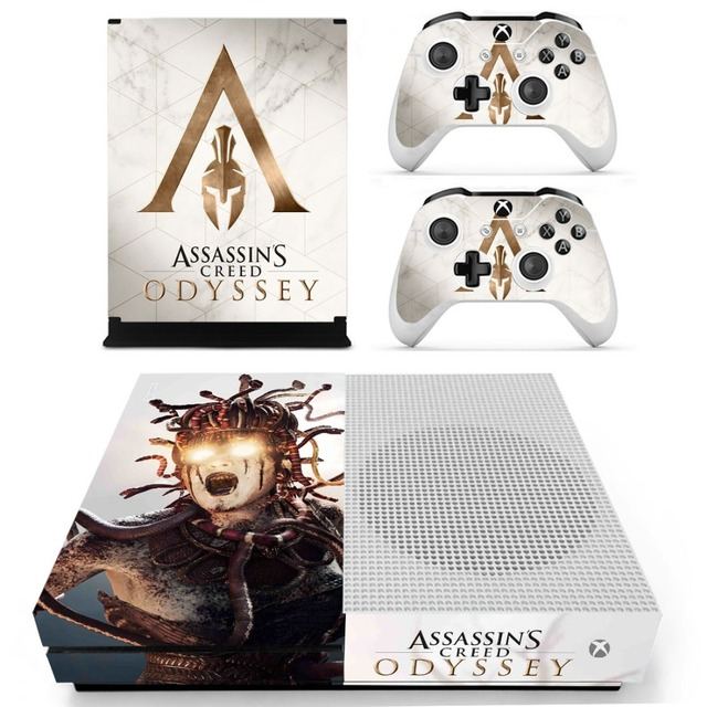 Assassins Creed Odyssey Skin Sticker Decal For Xbox One S Console and Controllers for Xbox One Slim Skin Stickers Vinyl 3