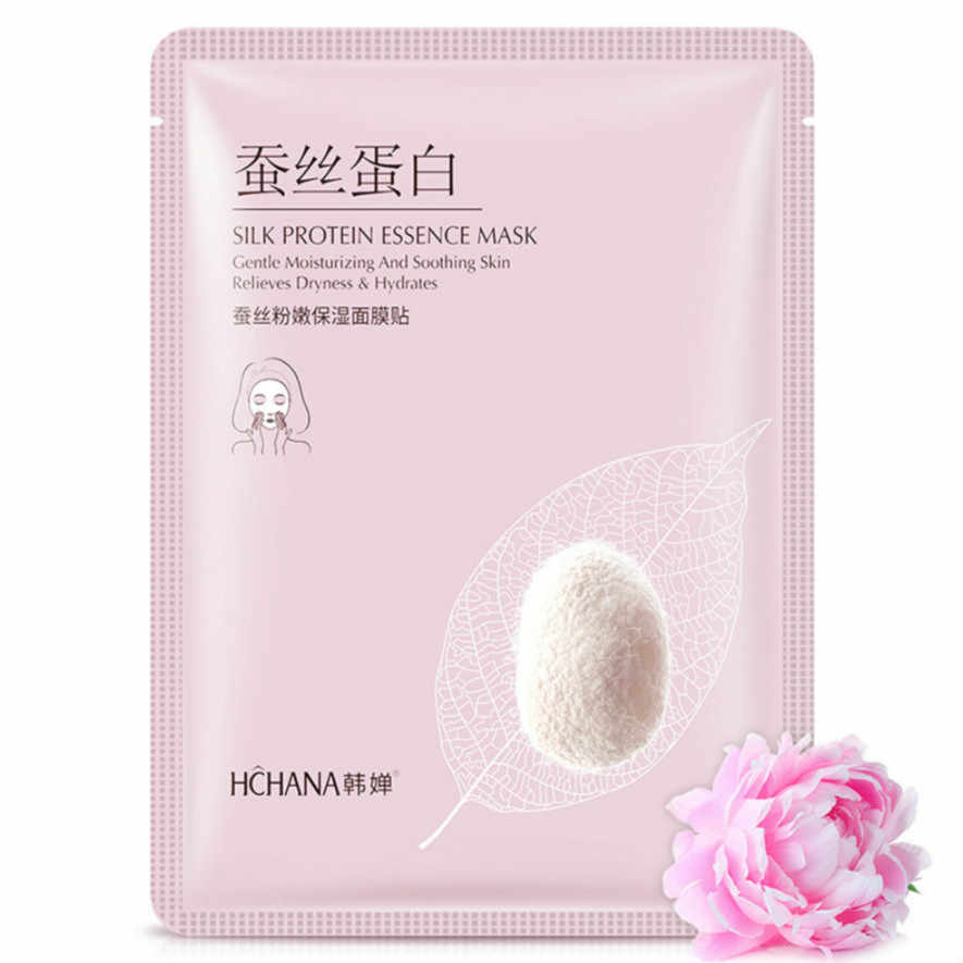 1Pcs Silk Powder Moisturizing Mask Facial Mask โรงงานเครื่องสำอาง SkinCare Beauty Moisturizing Oil Blackhead Whitening Mask