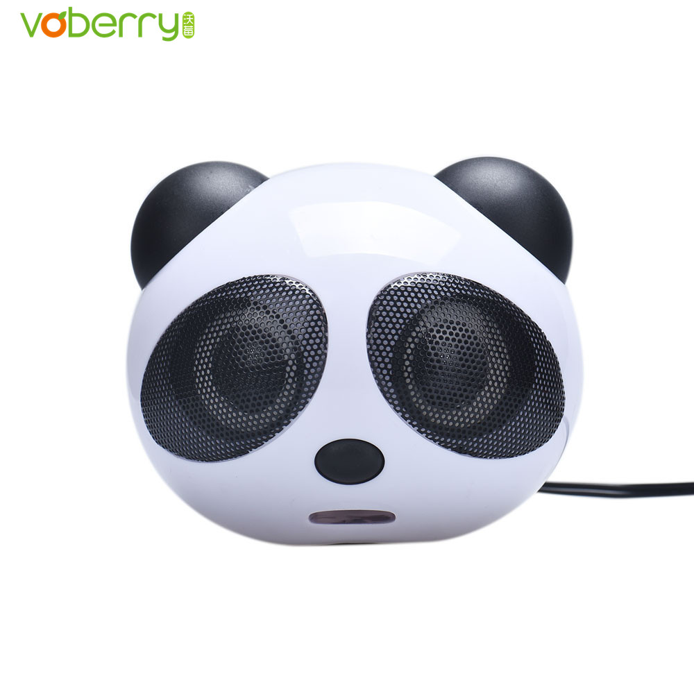 VOBERRY New High Quality Panda USB Subwoofer Speaker Music Player Personality Design Loudspeaker for Computer Desktop PC