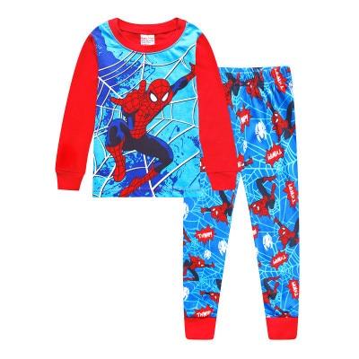 Новые Обувь для мальчиков пижама для девочек хлопковые детские пижамы для сна детский Пижамный комплект, комплект одежды для маленьких мальчиков с рисунком Человек-паук от 2 до 7 лет H034