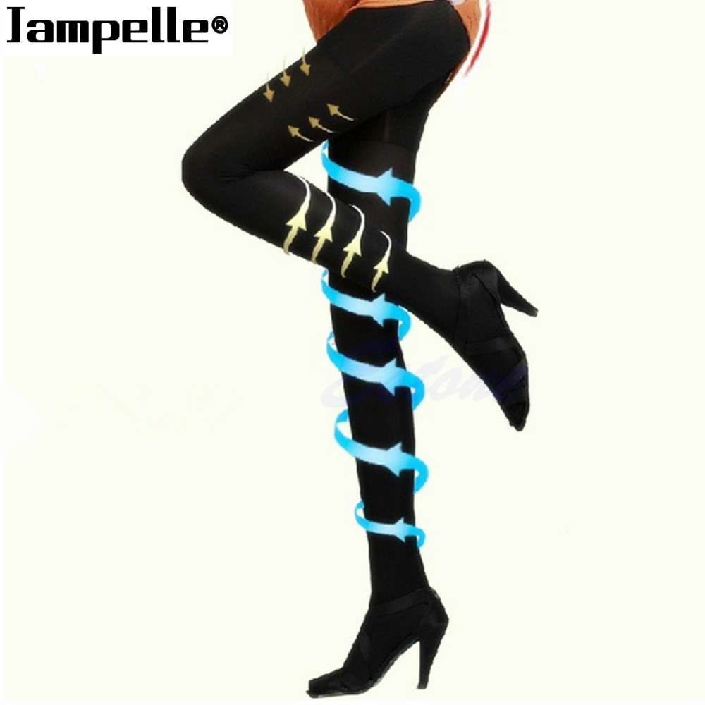 JAMPELLE Sexy Women's Nylons Stockings Black Compression Pantyhose Slim Skinny Stocking Shaping Stockings Ladies Drop Shipping
