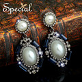 Special New Fashion Pearl Earrings Victoria Style Long Earrings Big Double Pearl Earrings Gifts For Girls Women ED150308