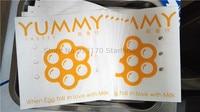 계란 와플에 대 한 음식 가방 기름 증거 크 래 프 트 종이 튀긴 음식에 대 한 포장 파우치 구운 된 제품 오일 증거 100 p/s 가방 18 cm * 18 cm