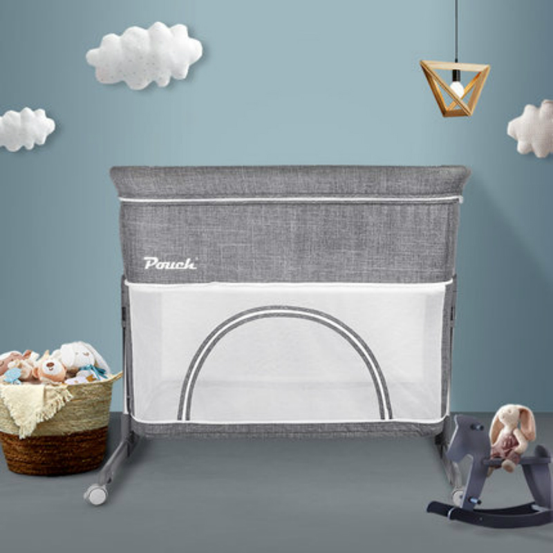 Pouch H05Ⅱ Baby Cribs Portable Folding Crib Connected With Parents' Normal Big Bed Travel Folding Baby Bed Infant Toddler Cradle