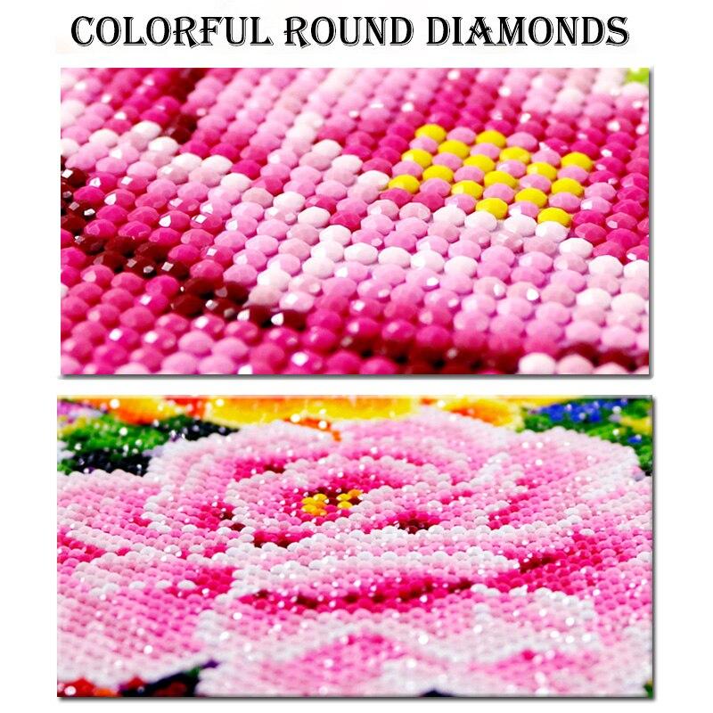 5d diy dragão violeta pintura diamante animais
