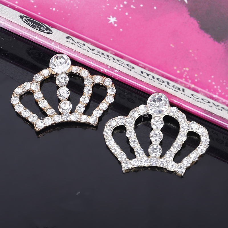 2015New 50Pcs Imperial Crown Rhinestone Buttons Embellishment Button DIY Accessories HZ163