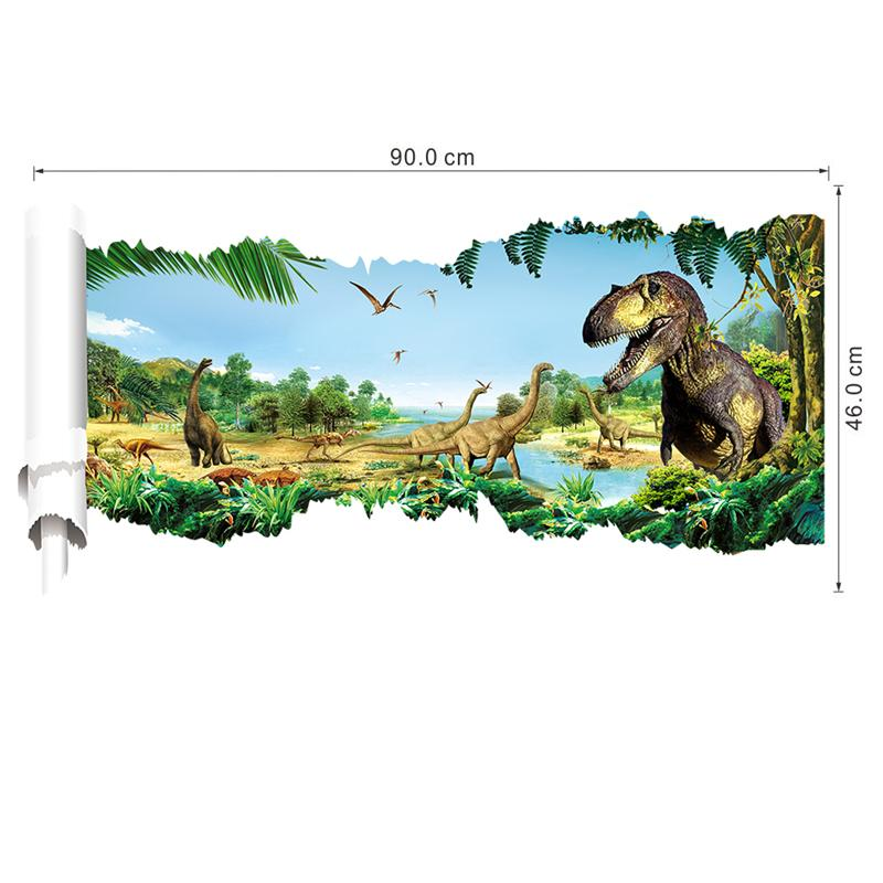 D Dinosaurs Wall Stickers Living Room Decoration Accident Animals - 3d dinosaur wall decalsd dinosaurs wall stickers decals boys room animals wall decals
