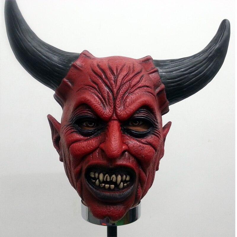 Lattice teschio con corna Diavolo Completo Maschera Cosplay costume di Halloween Horror Scheletro