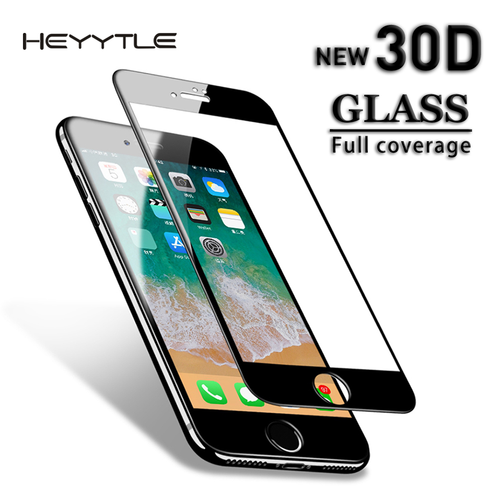 Heyytle Glass-Film Screen-Protector Tempered-Glass Full-Cover iPhone 8 7plus 9H for 6