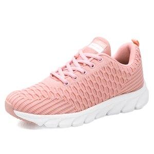 Image 2 - STQ 2020 Women Walking Flats Shoes Women Light Sneakers Mesh Tenis Feminino Casual Shoes Vulcanize Breathable Trainers Shoes 926