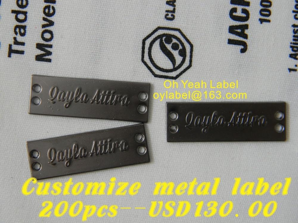Customize metal labels clothes labels main label garment label