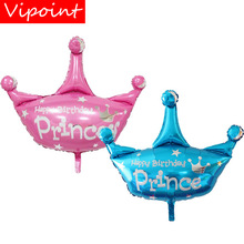 VIPOINT PARTY 82x78cm blue pink crown prince foil balloons wedding event christmas halloween festival birthday party HY-181