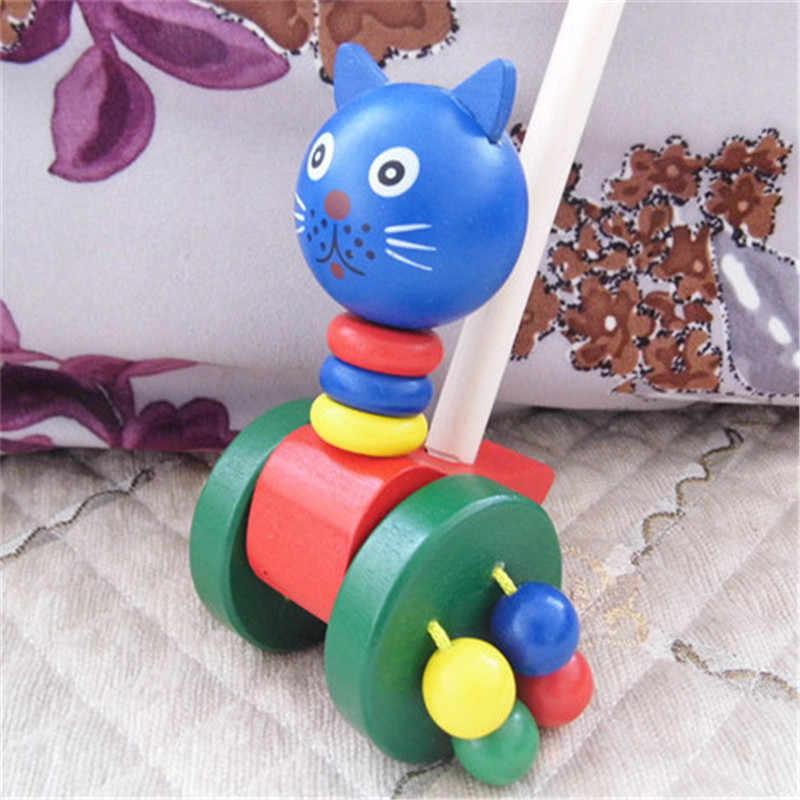 1 Pcs Montessori Kayu Mainan Pendidikan Puzzle Pengajaran Aids Set Bahan Belajar Berjalan gerobak kayu/Bayi walkers/hadiah untuk bayi