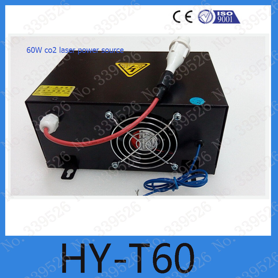 Black HY-T60  co2 laser power supply AC110v or 220v for 60W laser 9060 engraving machine high voltage flyback transformer hy a 2 use for co2 laser power supply