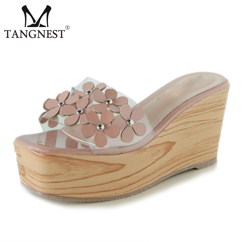 41d56c9e4 Tangnest-Women-Summer-Wedge-Slippers -Sweet-Flowers-Thick-Platform-Slides-Outdoor-Casual-Slippers-Female-Beach- Sandals.jpg