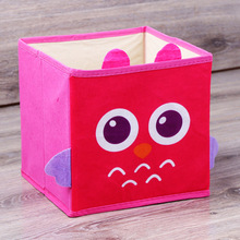 New Foldable Non-Woven Kids Toy Storage Bin Box-3D Cartoon Animal Children Toys Chest and Closet Organizer Sundries boxes