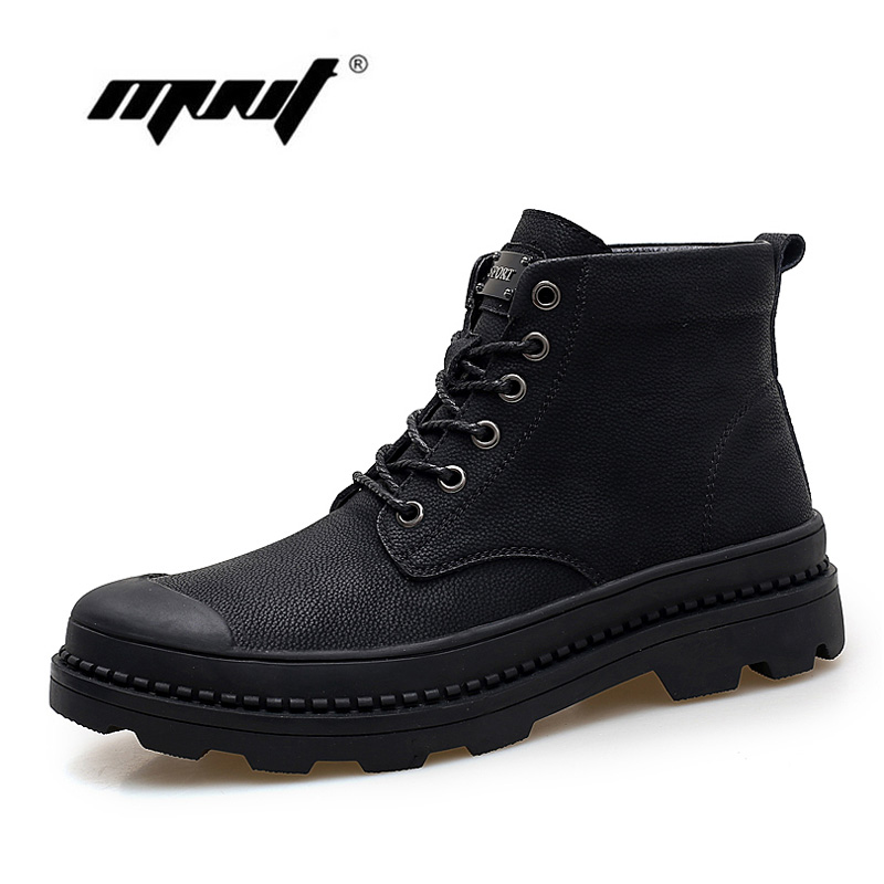 Genuine Leather Two Style Lace-up Men Boots Velvet Fur Snow Boots Plus Size High Quality Autumn Winter Men Shoes plus size lace up velvet blouse