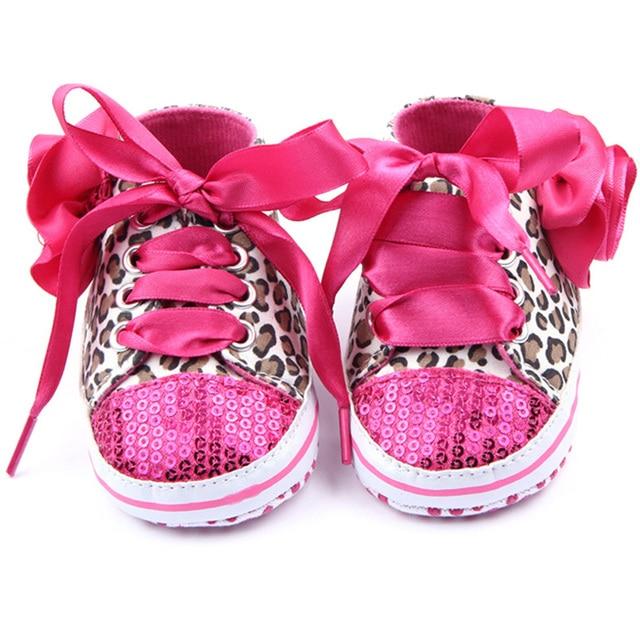 Leopard né Bébé Lace Non Baskets Nouveau Sequin Slip Chaussures Up 7qPnWqHwxB