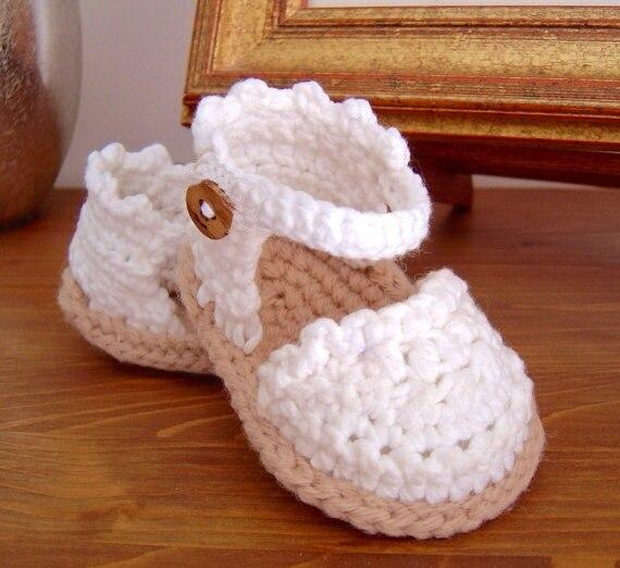 27839d8d717 CROCHET Baby Espadrille Sandals instant download Baby shoes Crochet Sandals