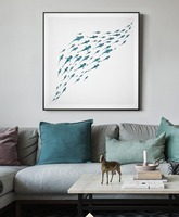 Undersea landscape Koi fish Wall Aer 100%Hand painted oil painting Feng Shui Fancy Carp Home office hotel decoration