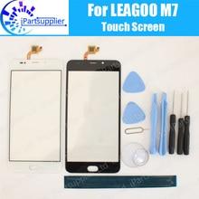LEAGOO M7 لوحة شاشة لمس 100% ضمان جديد الأصلي الزجاج شاشة باللمس على حامل الزجاج ل LEAGOO M7 + الهدايا